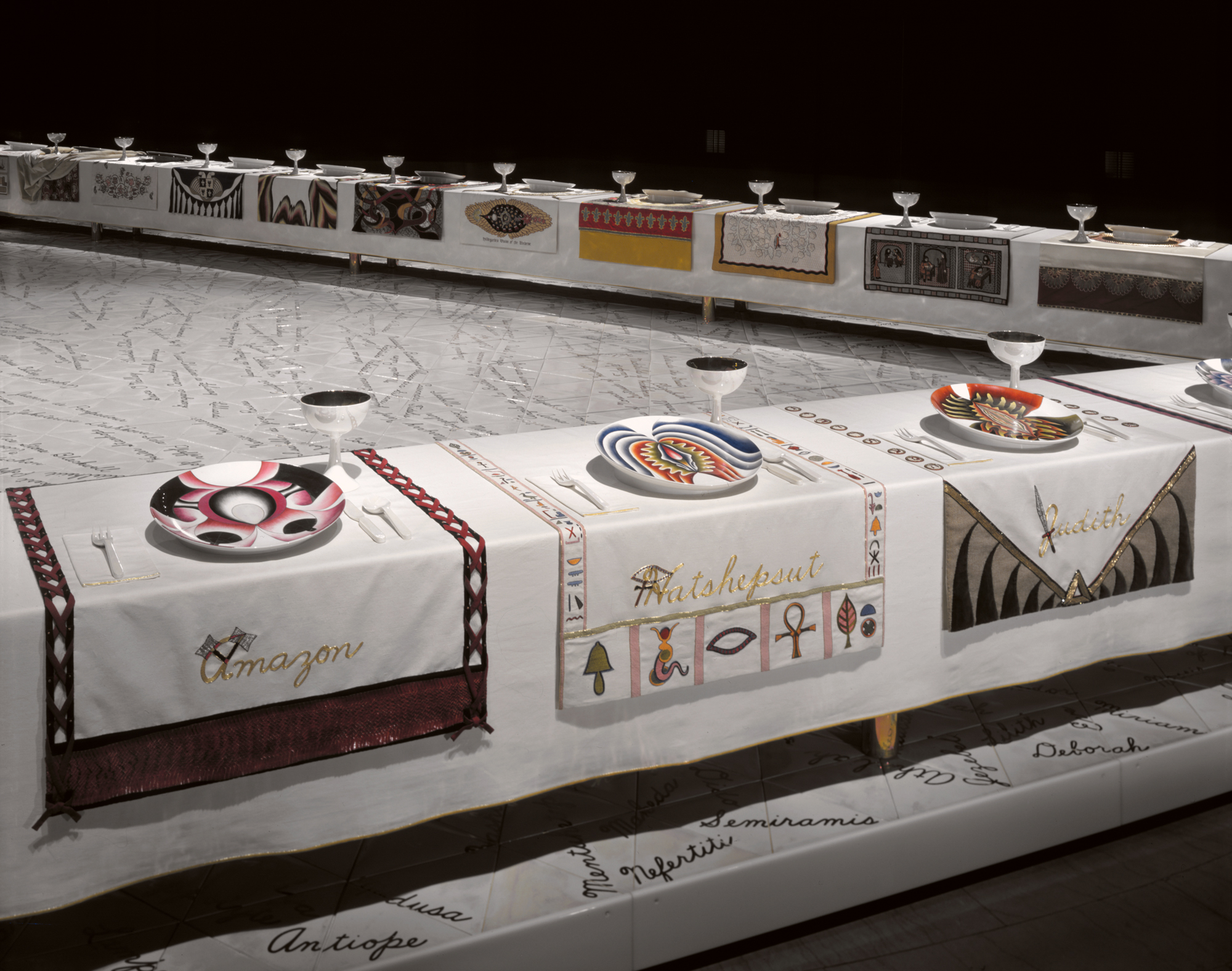 The Dinner Party Wing_1_Amazon _Hatshepsut_Judith & Selected work « Judy Chicago